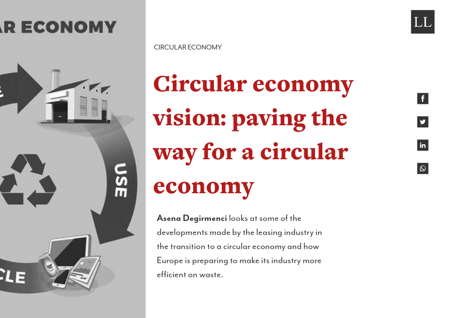 Circular economy vision: paving the way for a circular economy
